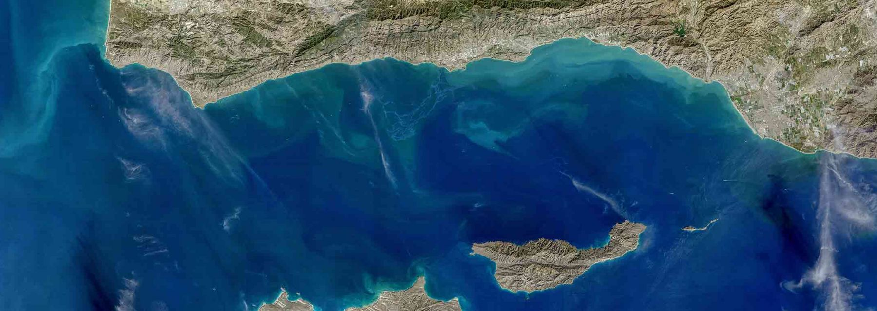 Landsat-8 Image of Santa Barbara Channel. Credit: NASA Goddard OBPG